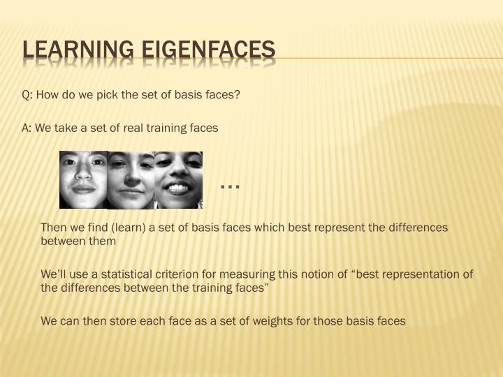 Learning Eigenfaces