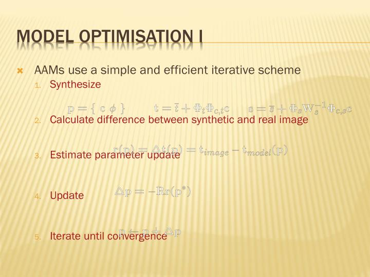 Model optimisation I