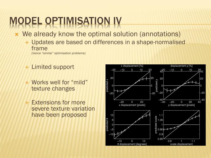 Model optimisation IV