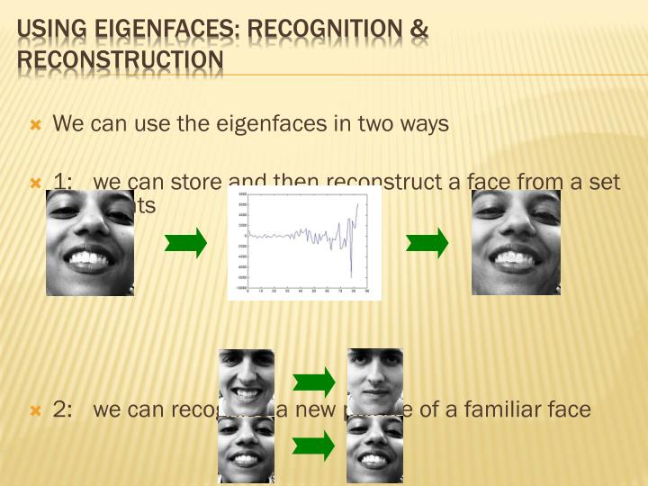 Using Eigenfaces: recognition & reconstruction