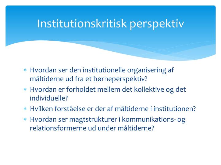 Institutionskritisk perspektiv