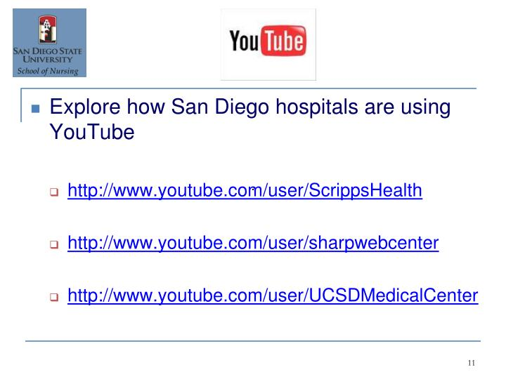 Explore how San Diego hospitals are using YouTube