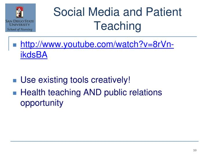 Social Media and Patient Teaching