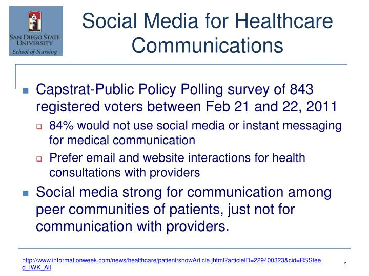 Social Media for Healthcare Communications