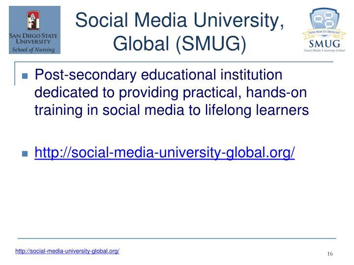 Social Media University, Global (SMUG)