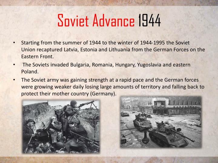 Soviet Advance