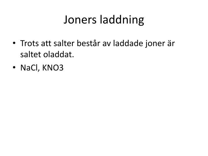 Joners laddning