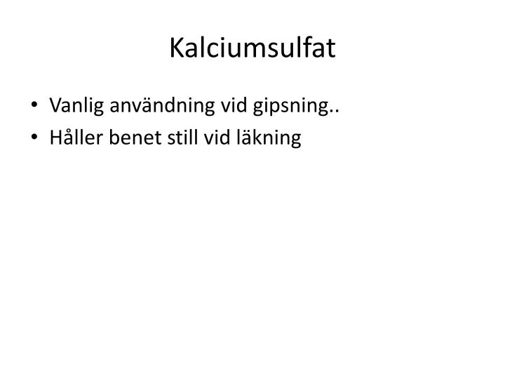 Kalciumsulfat