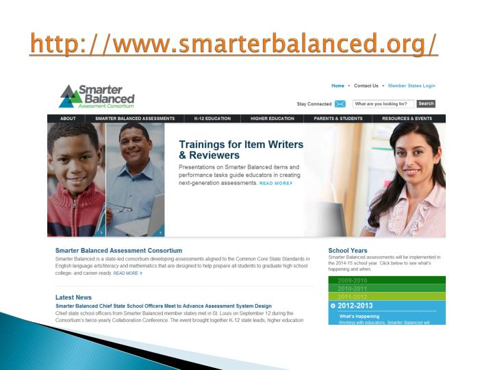 http://www.smarterbalanced.org