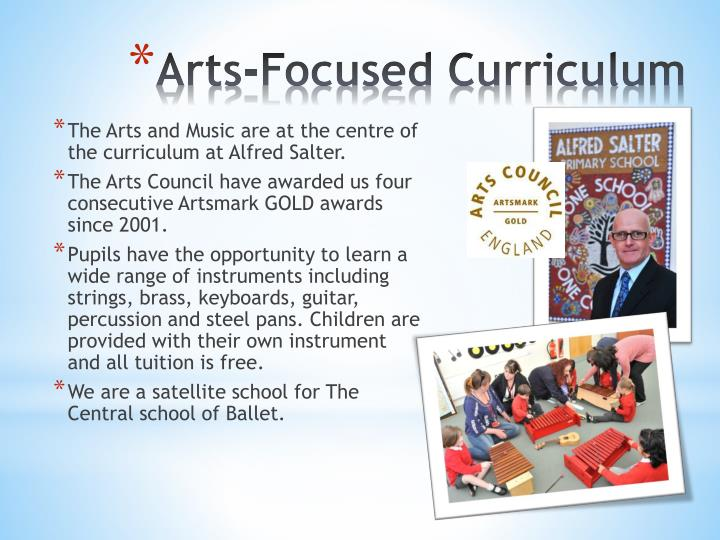 The Arts and Music are at the centre of the curriculum at Alfred Salter.