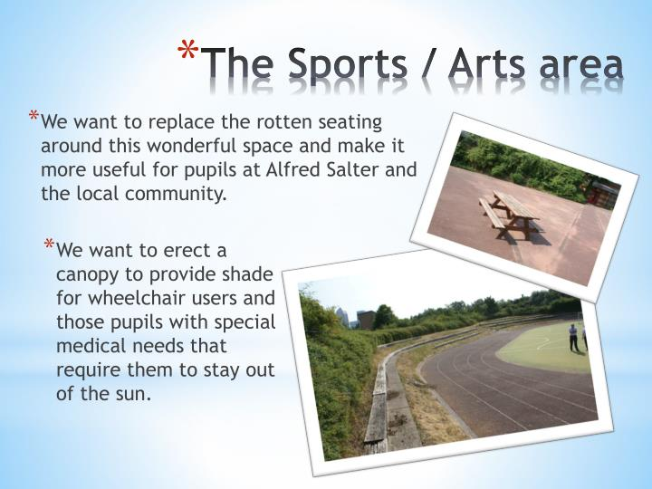 We want to replace the rotten seating around this wonderful space and make it more useful for pupils at Alfred Salter and the local community.