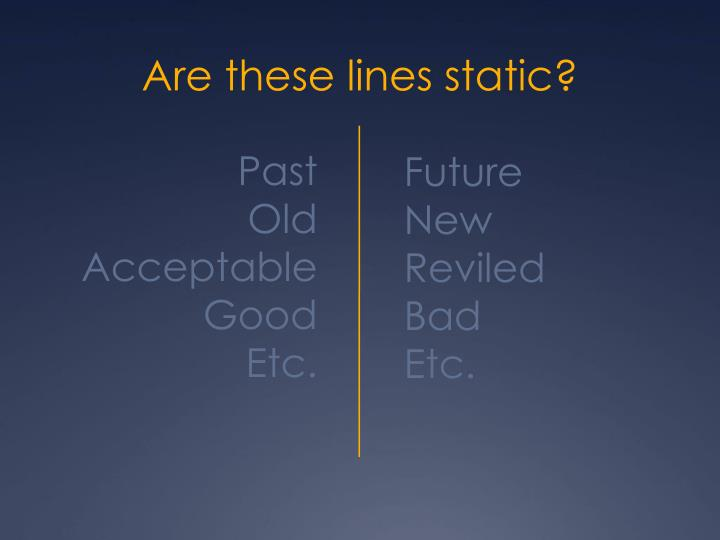 Are these lines static?
