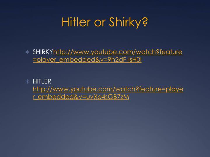 Hitler or