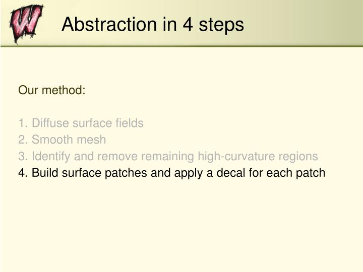 Abstraction in 4 steps