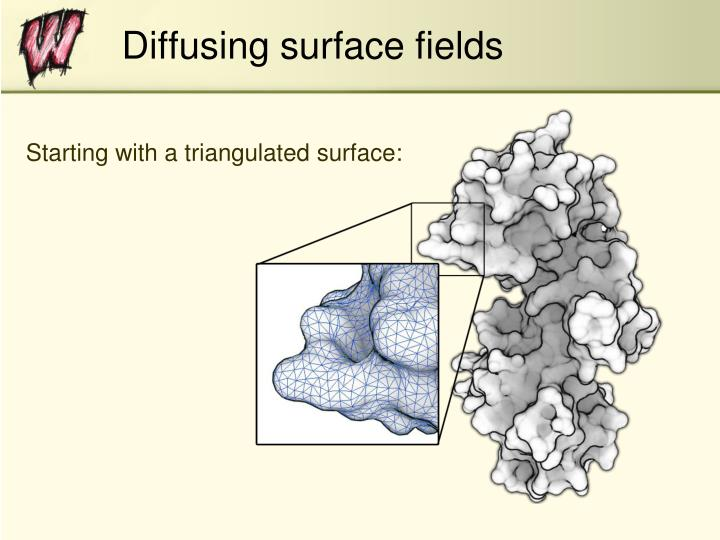 Diffusing surface fields