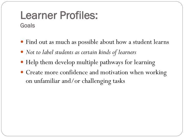 Learner Profiles: