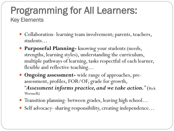 Programming for All Learners: