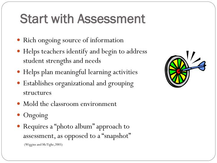Start with Assessment