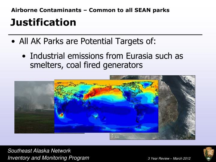 Airborne Contaminants – Common to all SEAN parks