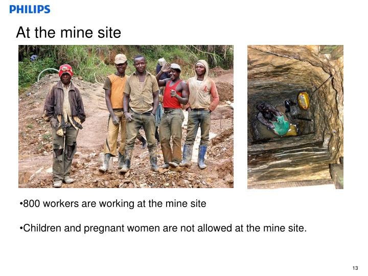 At the mine site