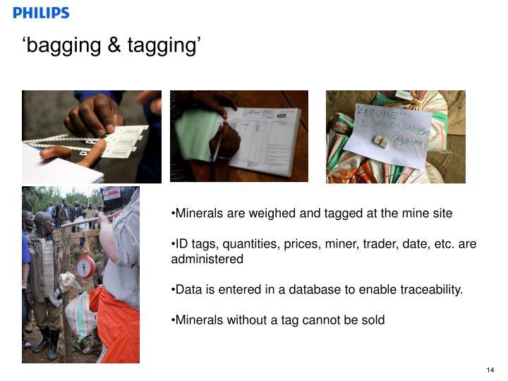 'bagging & tagging'
