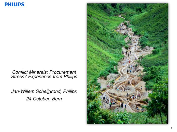 Conflict Minerals: Procurement Stress? Experience from Philips