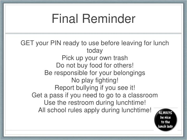 GET your PIN