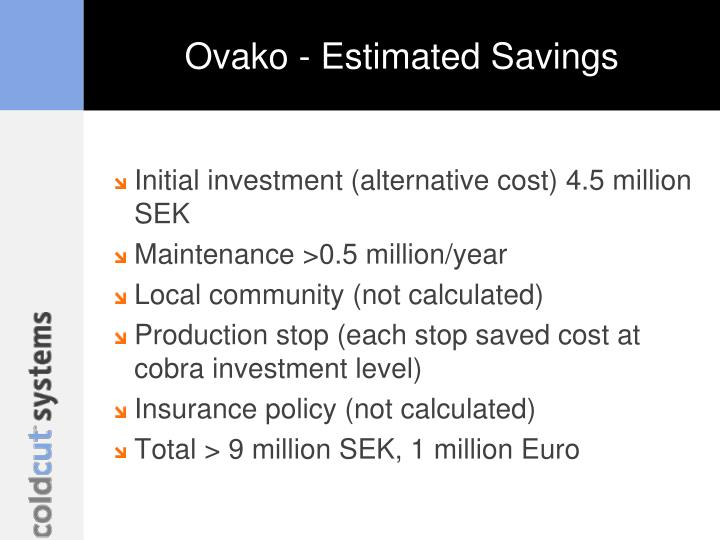 Ovako - Estimated