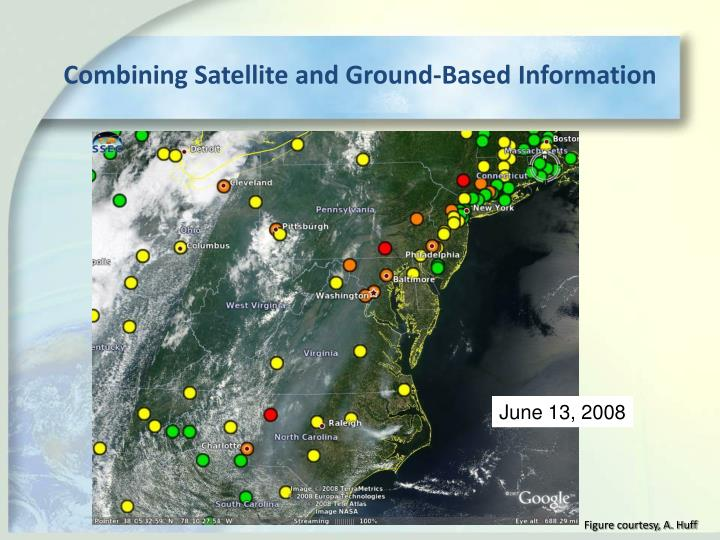 Combining Satellite and Ground-Based Information