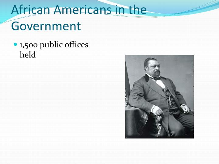 African Americans in the Government