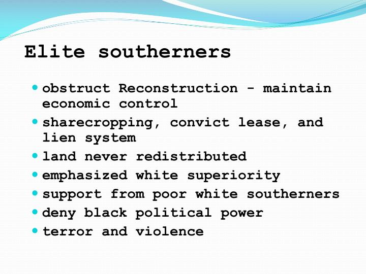Elite southerners