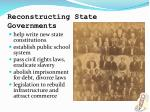 reconstructing state governments