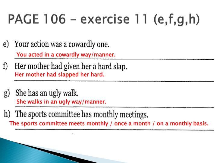 PAGE 106 – exercise 11 (