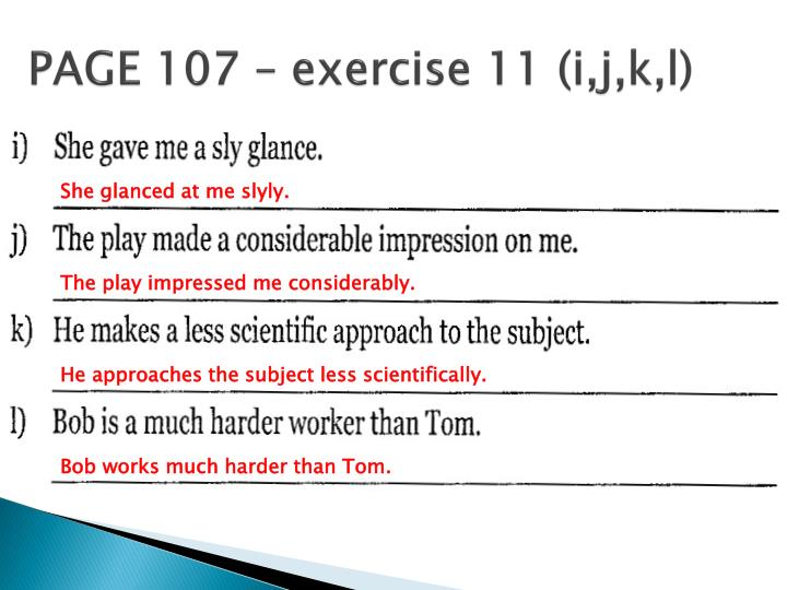 PAGE 107 – exercise 11 (
