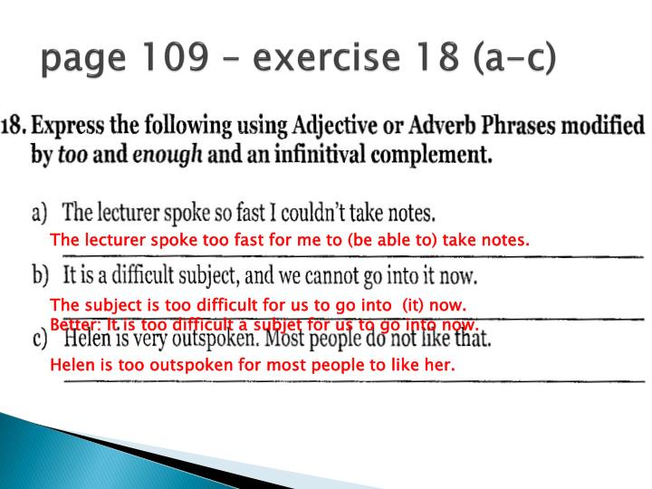 page 109 – exercise 18 (a-c)
