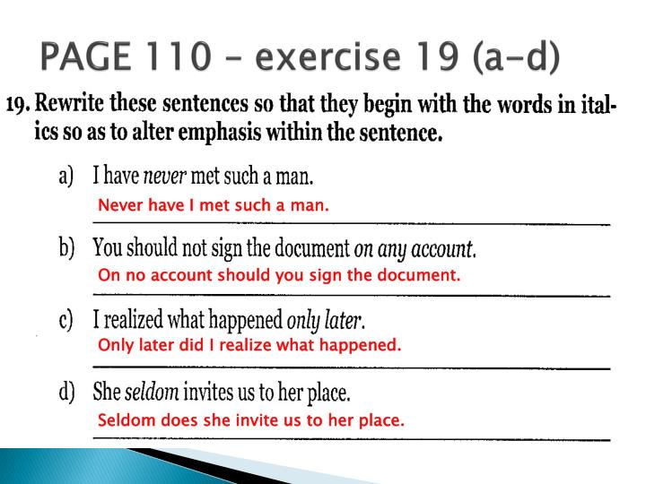 PAGE 110 – exercise 19 (a-d)