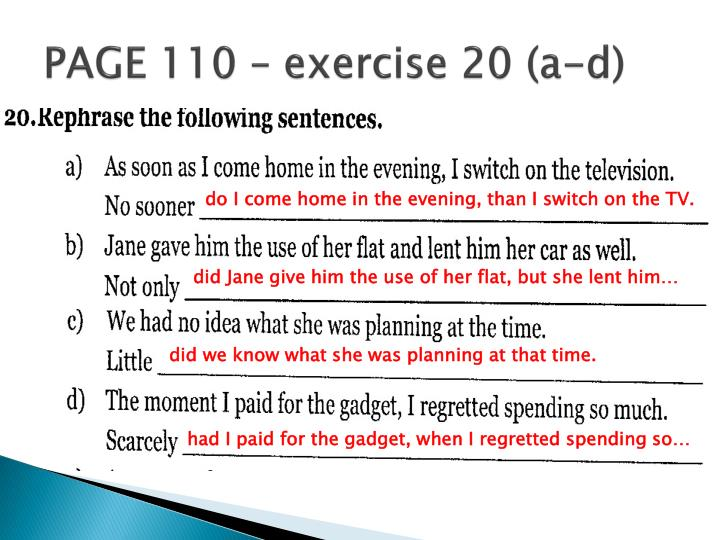 PAGE 110 – exercise 20 (a-d)