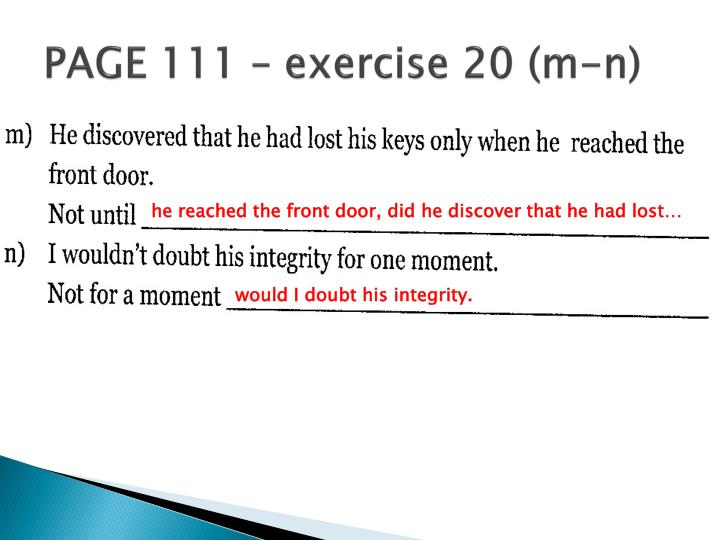 PAGE 111 – exercise 20 (m-n)