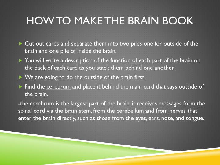 How to make the brain book