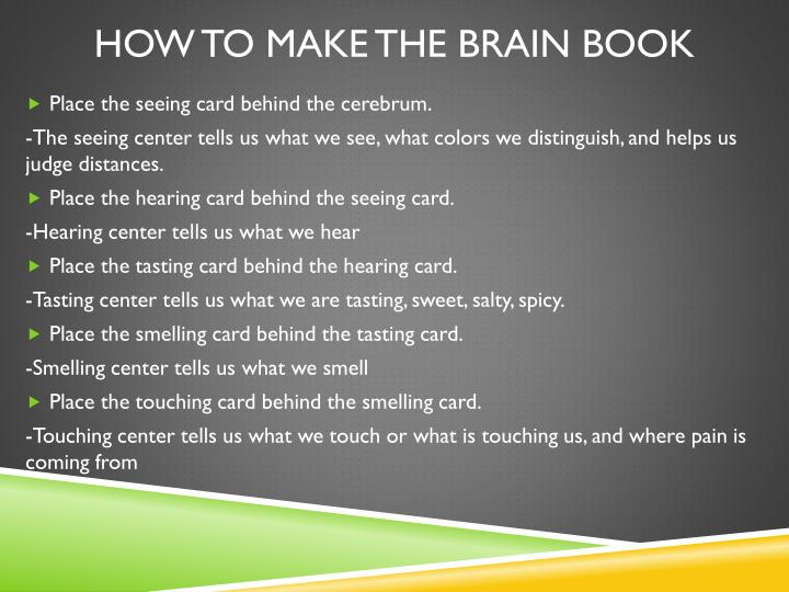 How to make the brain book1
