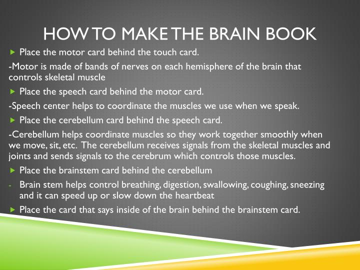 How to make the brain book2