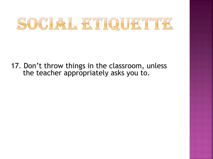 Social Etiquette