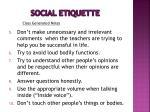 social etiquette19