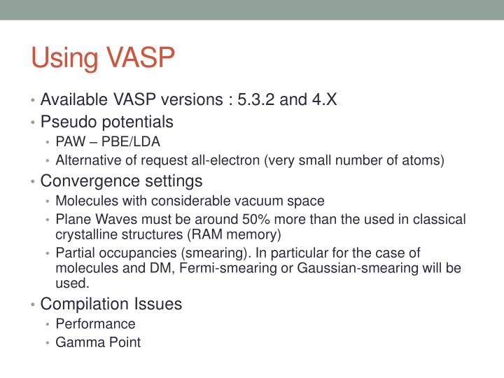 Using VASP