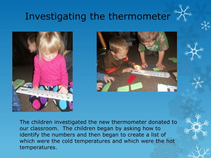 Investigating the thermometer