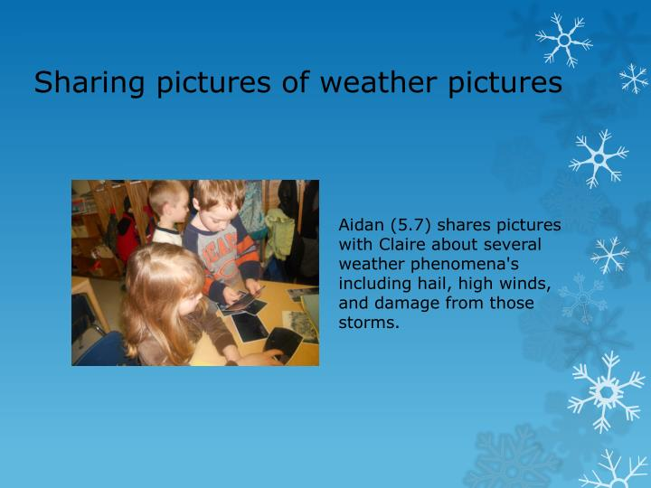 Sharing pictures of weather pictures