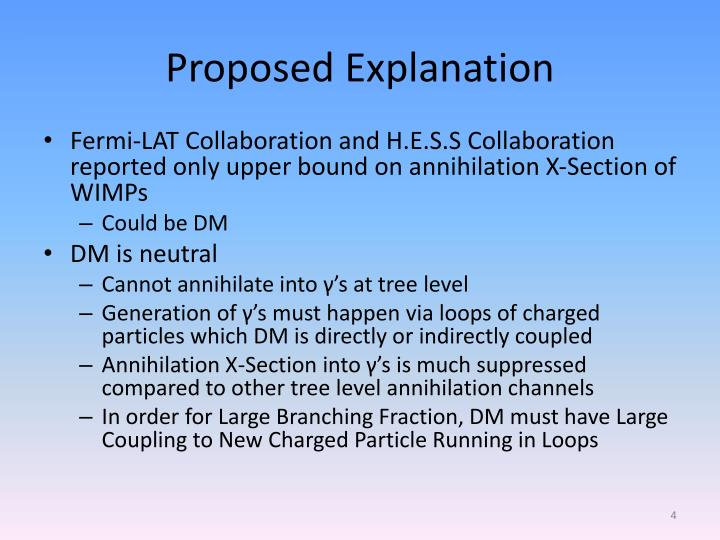 Proposed Explanation