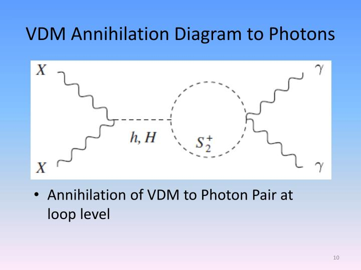 Annihilation of VDM to Photon Pair at loop level