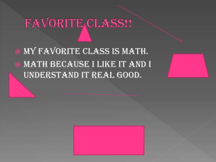 Favorite class!!