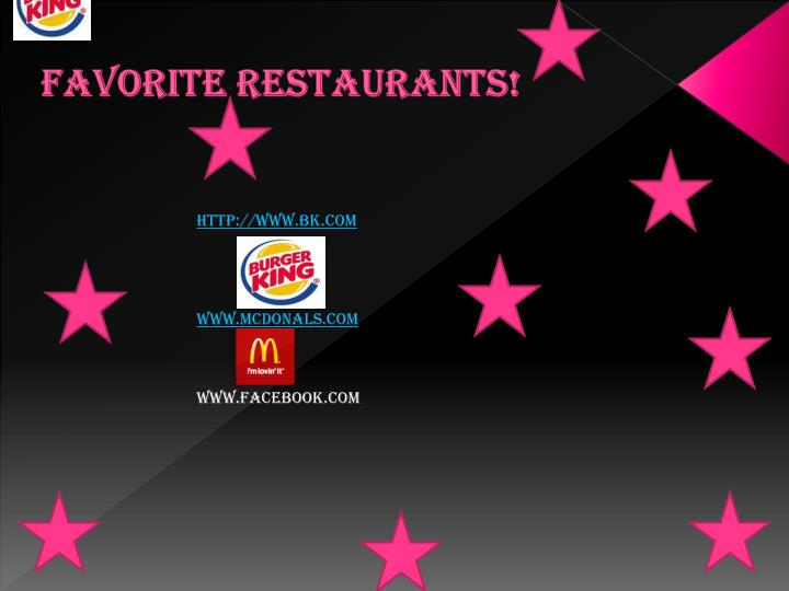 Favorite restaurants!